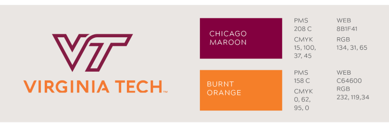 VT Primary logo color values