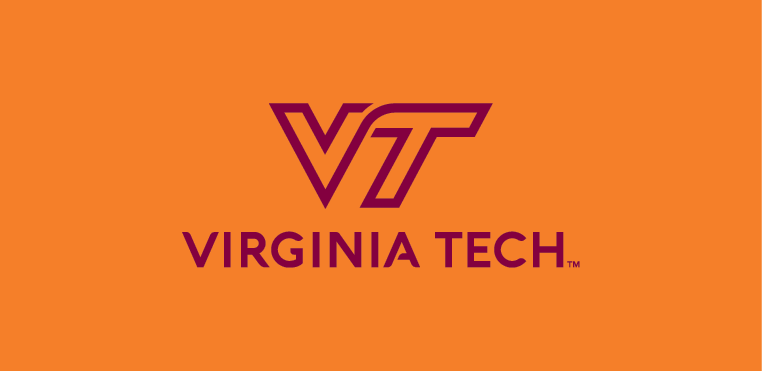 VT  maroon logo on orange