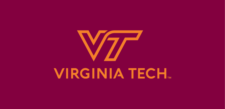 VT solid orange on maroon