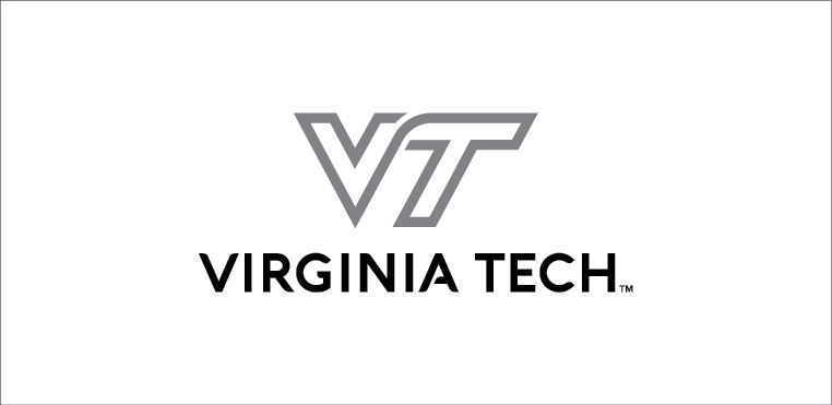 VT Black and grey logo on white